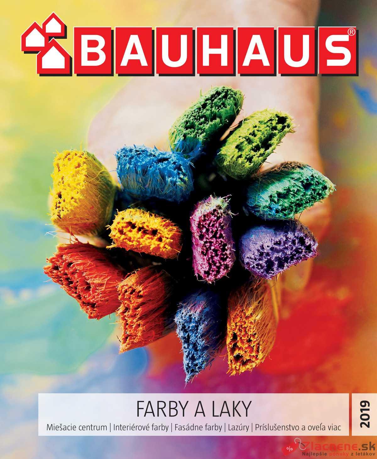 Leták Bauhaus - Bauhaus FARBY A LAKY 29.4. - 30.10. - strana 1