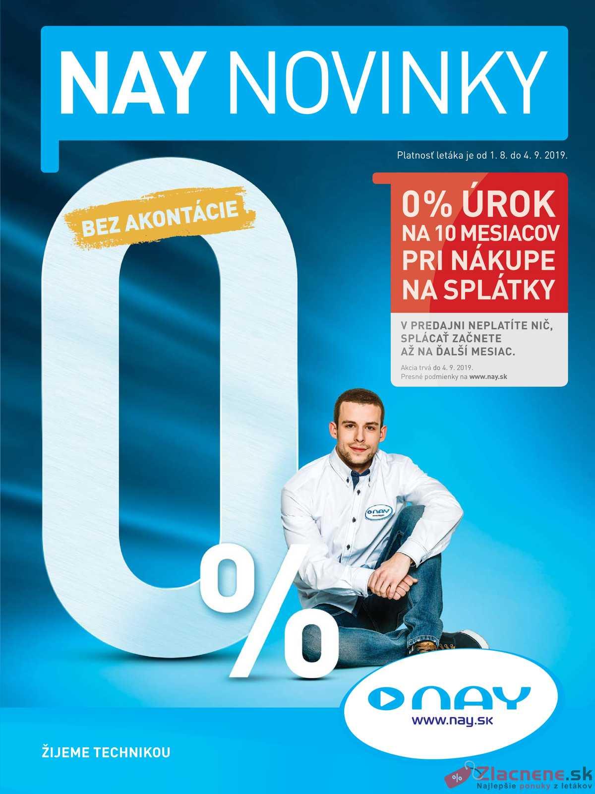 Leták NAY - NAY od 1.8. do 4.9.2019 - strana 1