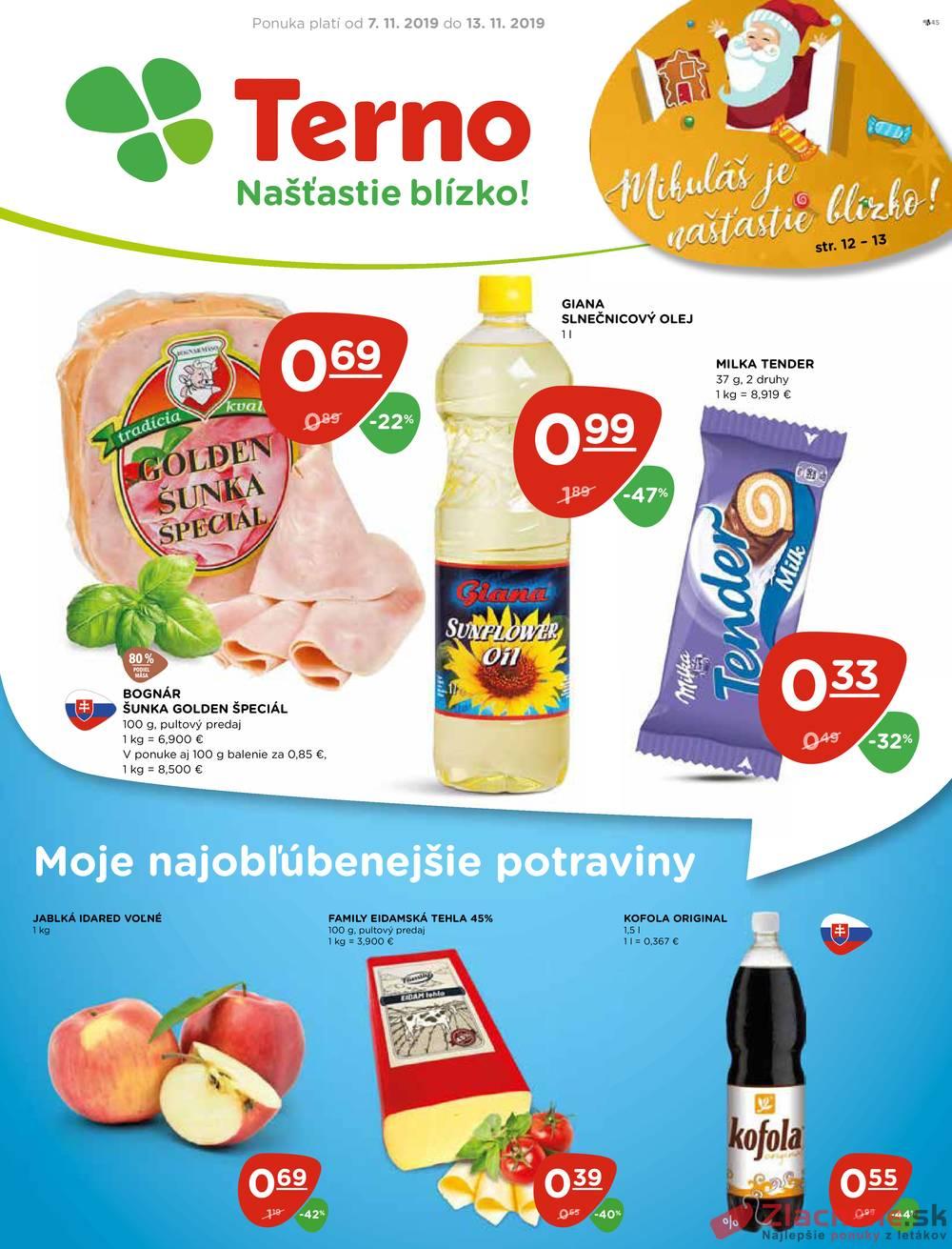 Leták TERNO - Terno  od 7.11. do 13.11.2019 - strana 1
