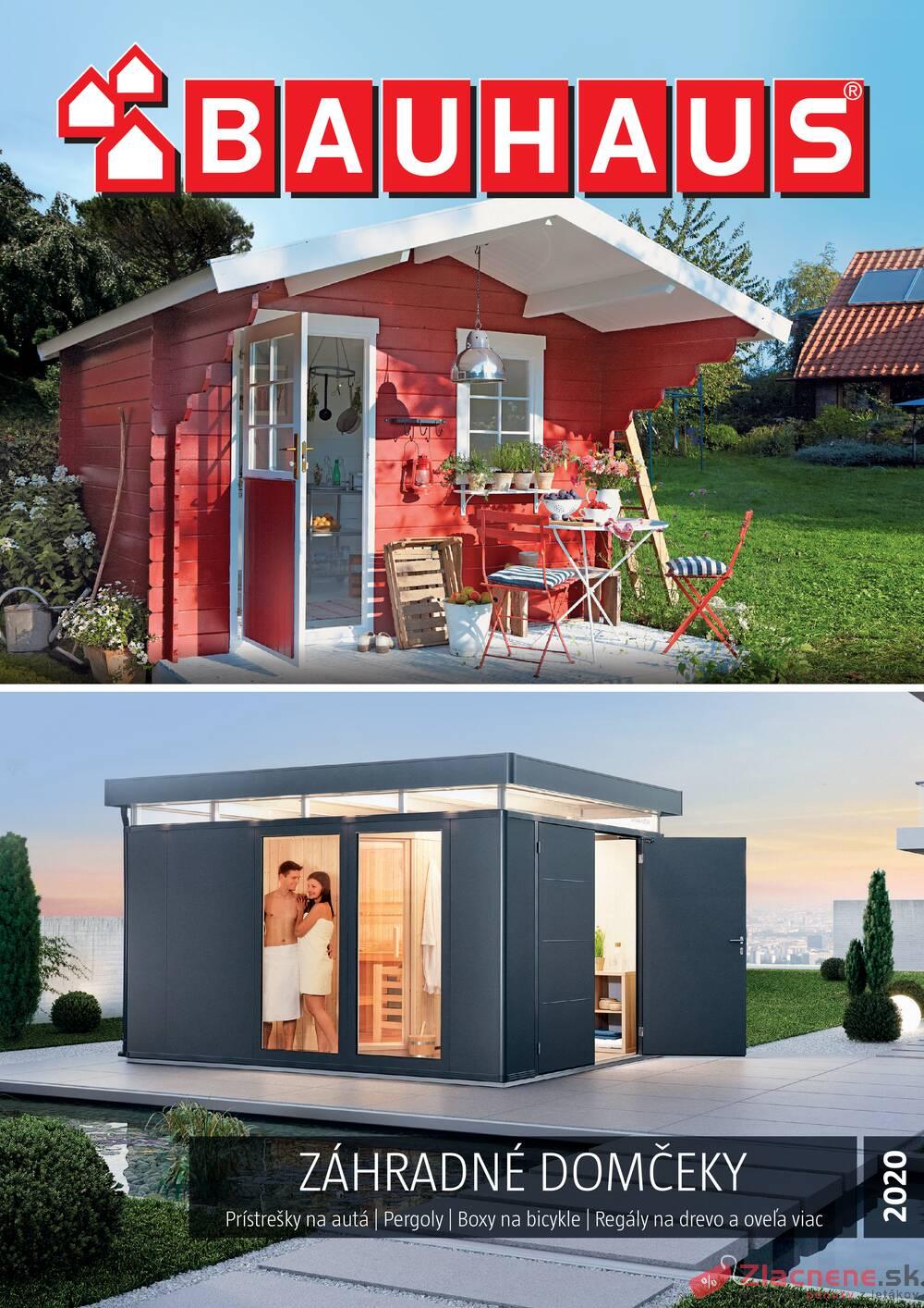 Leták Bauhaus - Bauhaus Zahradné domčeky 28.2. - 31.8. - strana 1
