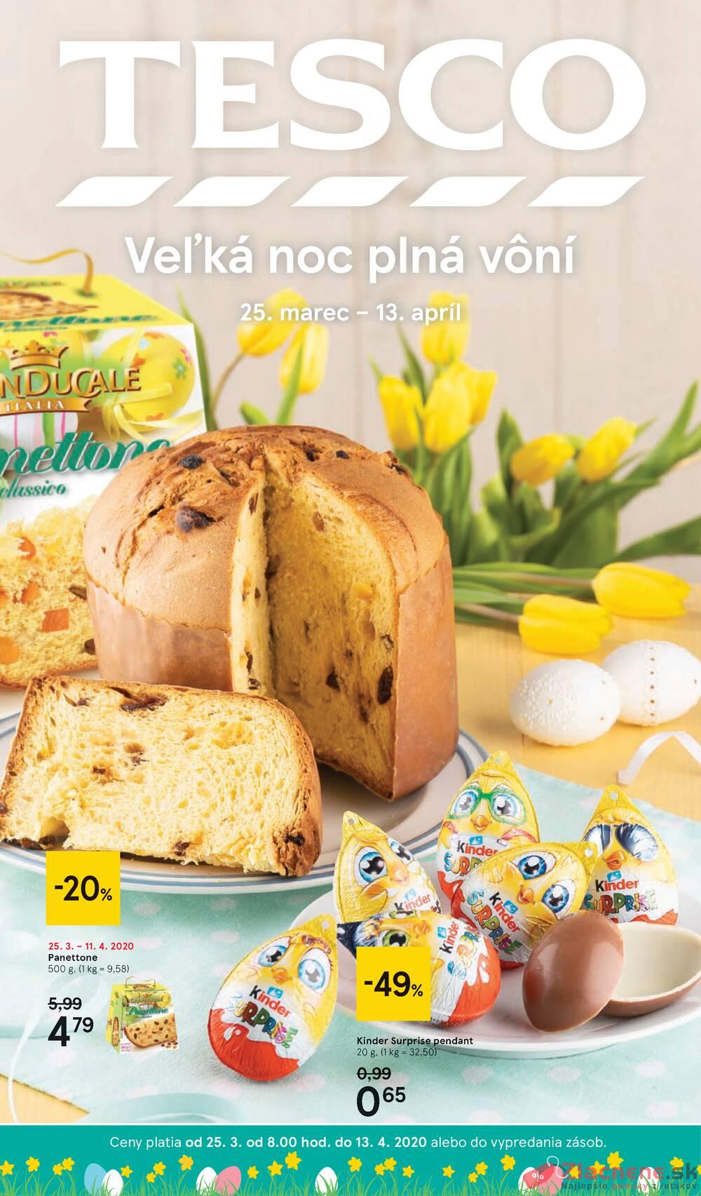 Leták Tesco - Tesco malé hypermarkety katalog Velikonoce od 25.3. do 13.4.2020 - strana 1