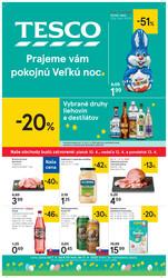 Leták Tesco malé hypermarkety od 7.4. do 11.4.2020