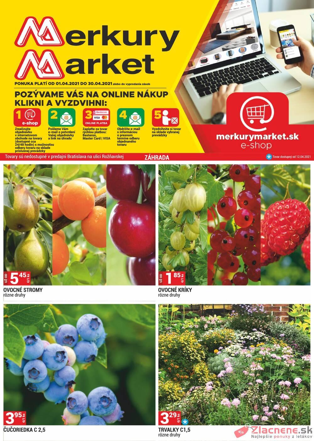 Leták Merkury Market - Merkury Market do 30.4. - strana 1