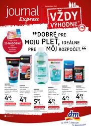Leták DM drogerie JOURNAL Express  od 16.9. do 30.9.2021