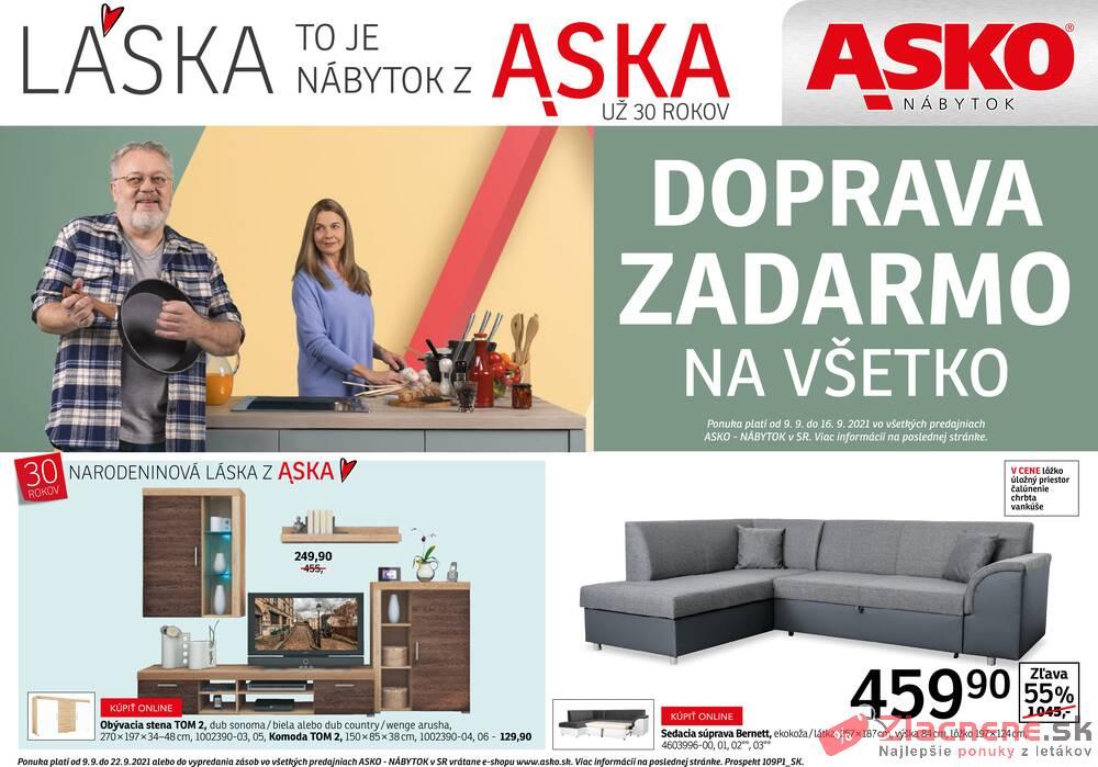 Leták ASKO - NÁBYTOK  - Asko do 22.9. - strana 1