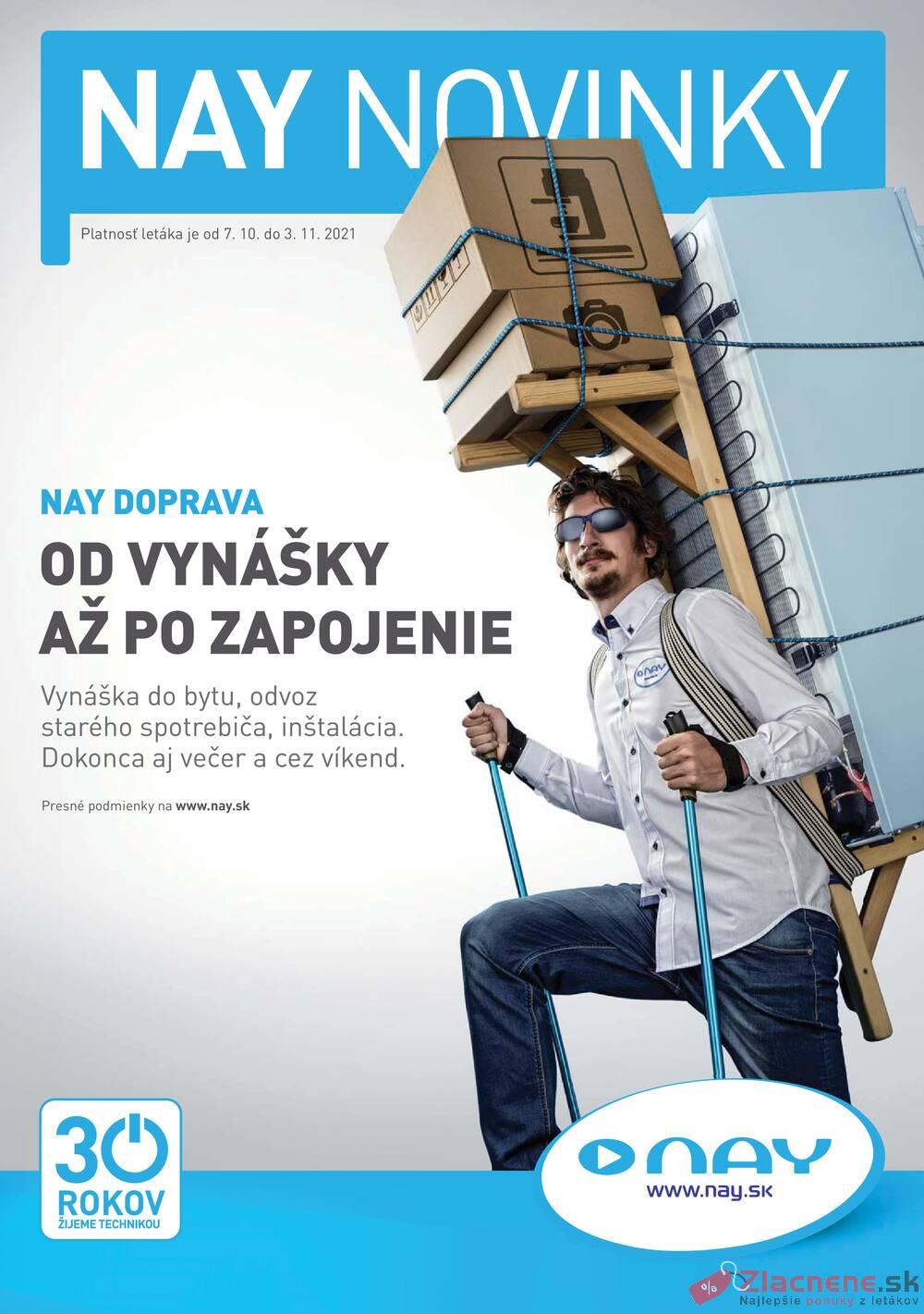 Leták NAY - NAY od 7.10. do 3.11.2021 - strana 1