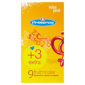 Primeros fruit´n´color farebné kondómy 12 ks