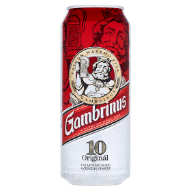 Gambrinus Originál 10% pivo výčapné svetlé 500 ml plechovka