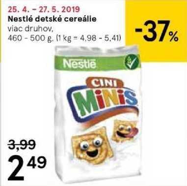 Nestlé detské cereálie, 460 - 500 g