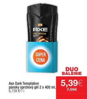 Axe Dark Temptation pánsky sprchový gél 2 x 400 ml