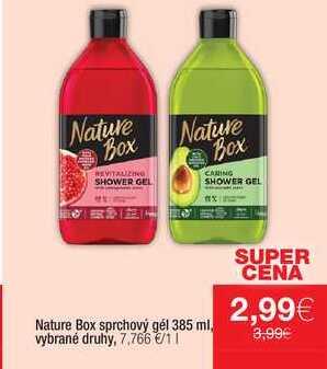 Nature Box sprchový gél 385 ml